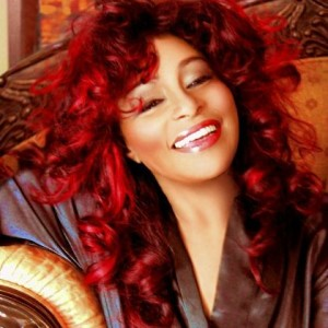 Chaka Khan's long red locks