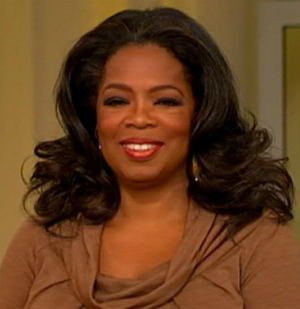 Oprah's thick, long hair