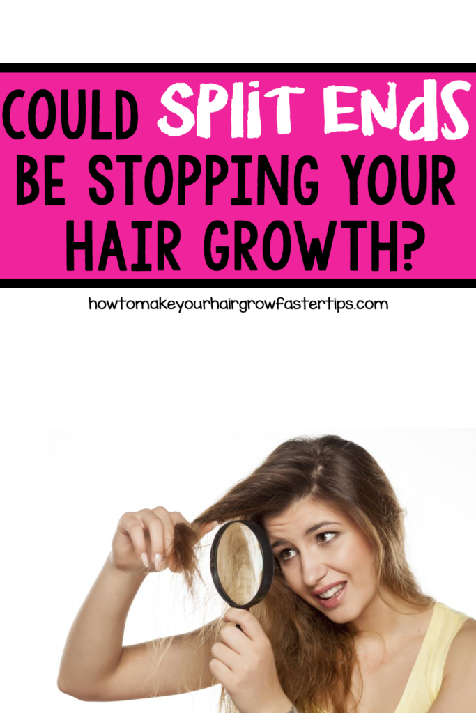 split ends stop hair growth