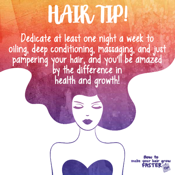 quick hair tip - pamper your hair