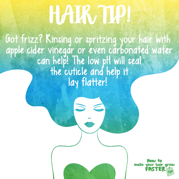 rinse with apple cider vinegar to prevent frizz