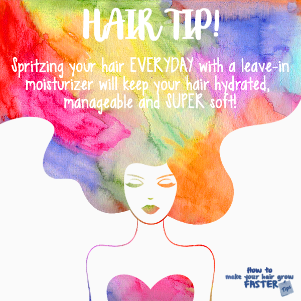 hair tip - keep hair moist with a daily leave-in