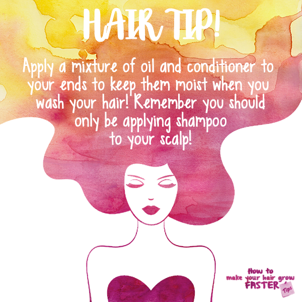 apply conditioner to ends of hair on wash day
